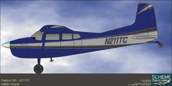 Cessna 185 - Profile Drawing